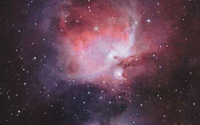 """Photo offset lithography. Steve Cannistra. Orion Nebula from Sky and Telescope magazine, May 2004. 2004. 10 1/16 x 6 9/16"""" (25.6 x 16.6 cm). The Museum of Modern Art, New York. Gift of Richard Benson  © Steve Cannistra. The photograph was made by a gifted amateur using digital technology and a small telescope."""