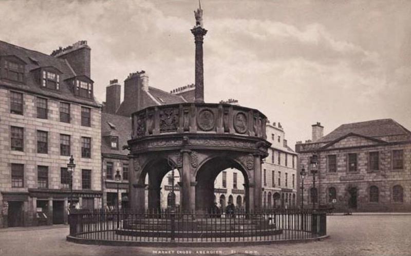 "Albumen print. George Washington Wilson. Market Cross, Aberdeen. c. 1875. 4 1/2 x 7 1/2"" (11.4 x 19 cm). The Museum of Modern Art, New York. Gift of Richard Benson."