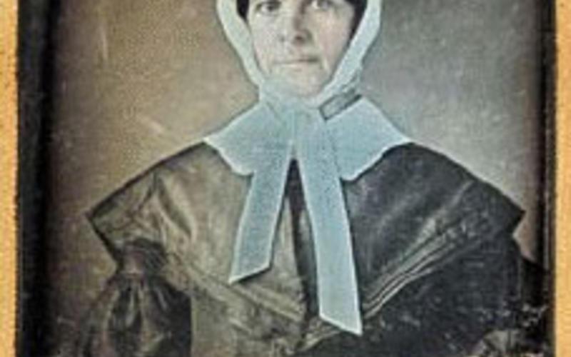 "Daguerreotype. Photographer unknown. Portrait of a woman. c. 1858. 3 5/8 x 2 3/4"" (9.2 x 7 cm). The Museum of Modern Art, New York. Gift of Richard Benson."