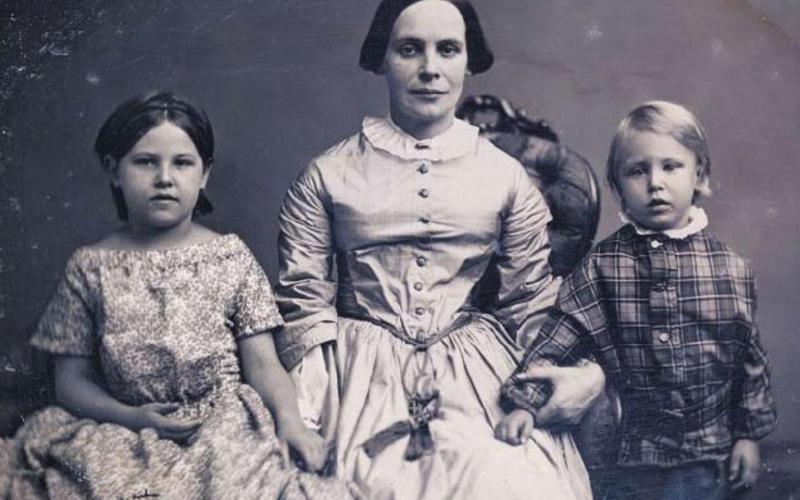"Daguerreotype. Photographer unknown. Sarah Anna Chace Greene and Her Children. c. 1850. 3 5/8 x 4 1/4"" (9.2 x 10.8 cm). The Museum of Modern Art, New York. Gift of Richard Benson"