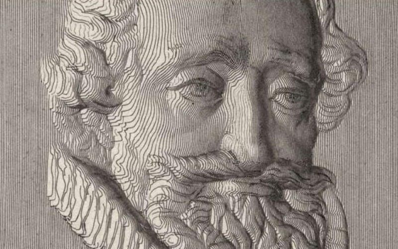 "Detail of Pantographically derived etching. Artist unknown. The Head of Henry IV. n.d. Relief medallion. 1837. 3 3/4 x 3 3/4"" (9.5 x 9.5 cm). Printed by Achille Colas. From ""Answer to Mr. Bate's Challenge,"" Literary Gazette no. 1047 (London), February 11, 1837. The Museum of Modern Art, New York. Gift of Richard Benson."
