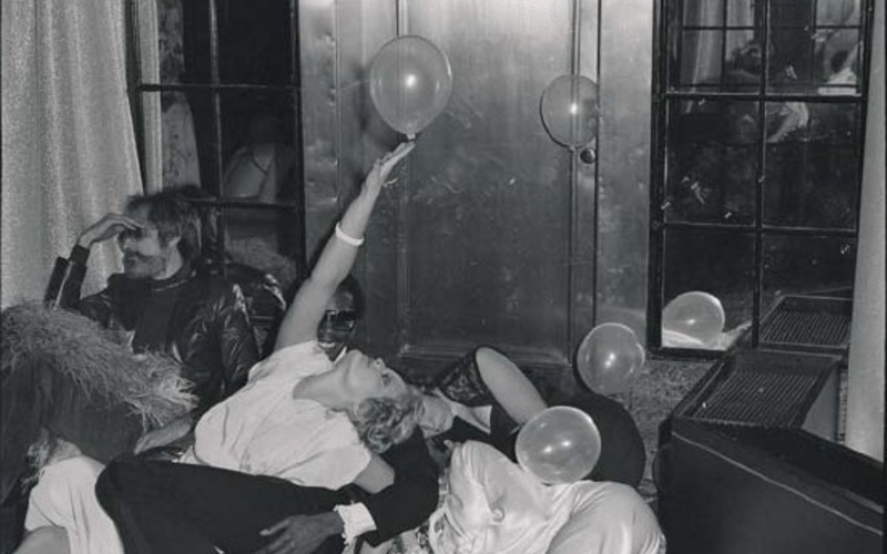 """Photo offset lithography duotone. Tod Papageorge. New Year's Eve at Studio 54. 1978. 13 1/16 x 8 3/4"""" (33.1 x 22.2 cm). The Museum of Modern Art, New York. Gift of Richard Benson © Tod Papageorge."""