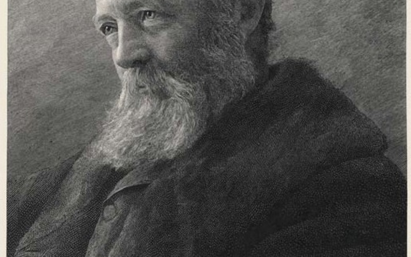 """Wood engraving. James Notman. Frederick Law Olmsted from The Century, Series 24, issue 46 (May-–October, 1893). c. 1893. 7 1/2 x 5 3/8"""" (19 x 13.6 cm). Printed by T. Johnson. The Museum of Modern Art, New York. Gift of Richard Benson. The invention of the dry-plate negative around 1880 made photographs radically easier to make. The subsequent development of practical techniques for mechanically translating photographs into ink vastly enlarged the potential for disseminating photographic imagery to an ever-l"""